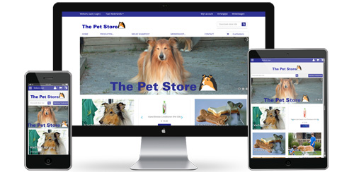 Die Pet Store-Website
